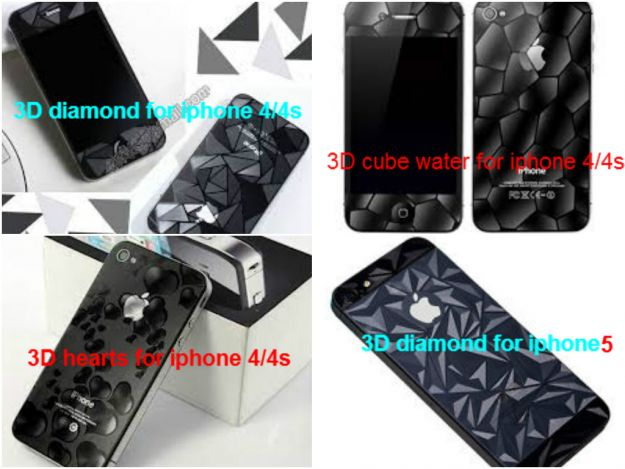 فقط ب : 5 دنانير 3D SCREEN GUARD FOR iphone 4/4s/5 لزقة حماية الشاشة ث